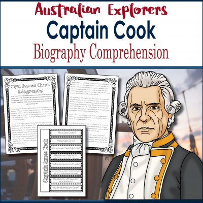 Captain Cook biography comprehension square Cover TESTER ONLY