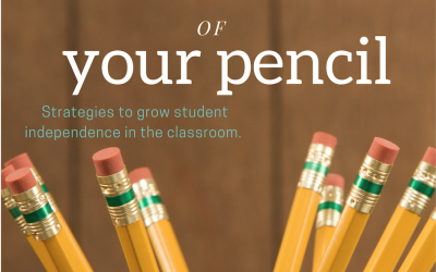 Be the boss of your own pencil -student toolkits