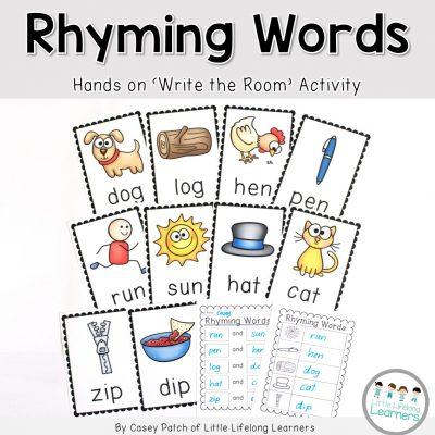 Rhyming Words - Write the Room