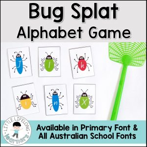Alphabet Game for the early years | Printables for literacy groups, reading groups and learning letters and sounds | Prep and Foundation Curriculum. Includes all Australian School Fonts.