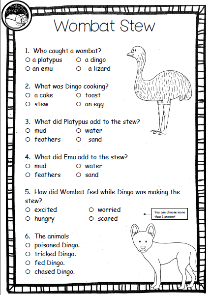 Reading sequencing worksheets
