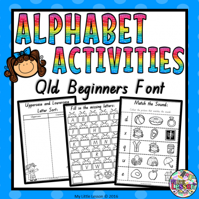 8X8 Cover - Alphabet Activities Qld Beginners Font PNG