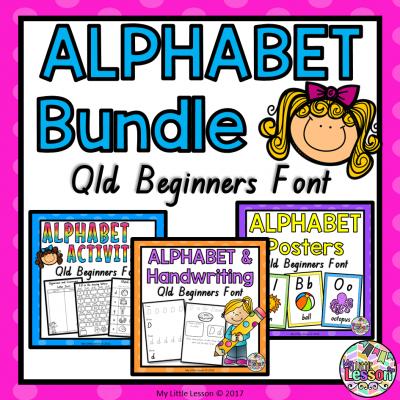 8x8 Cover - Alphabet Bundle - Qld Beginners Font