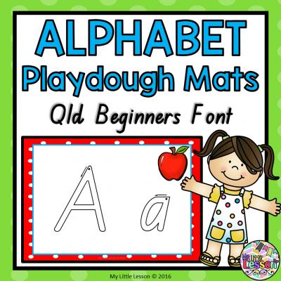 8x8 Cover Alphabet Playdough Mats - Qld Beginners Font PNG