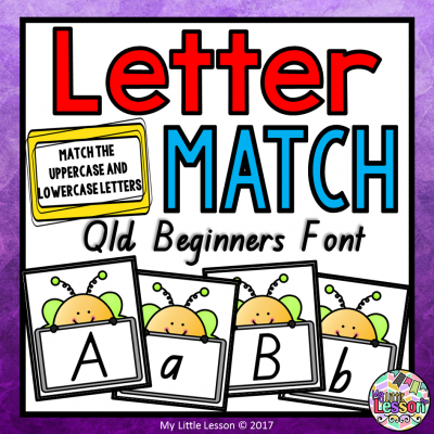 8x8 Cover Lowercase Uppercase Letter Match - Qld Beginners Font PNG