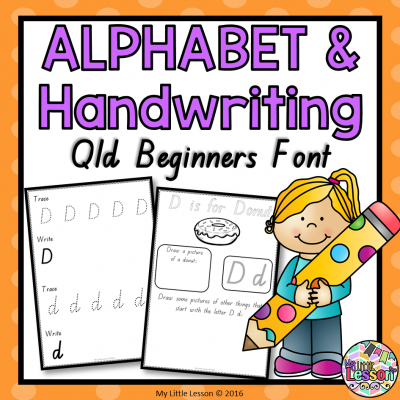 8x8 Cover My Handwriting and Alphabet Book Qld Beginners Font PNG