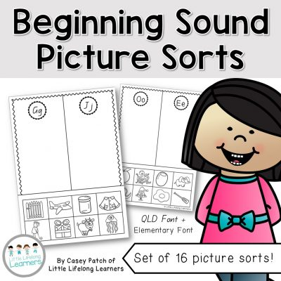 Beginning Sound Picture Sort - Cover