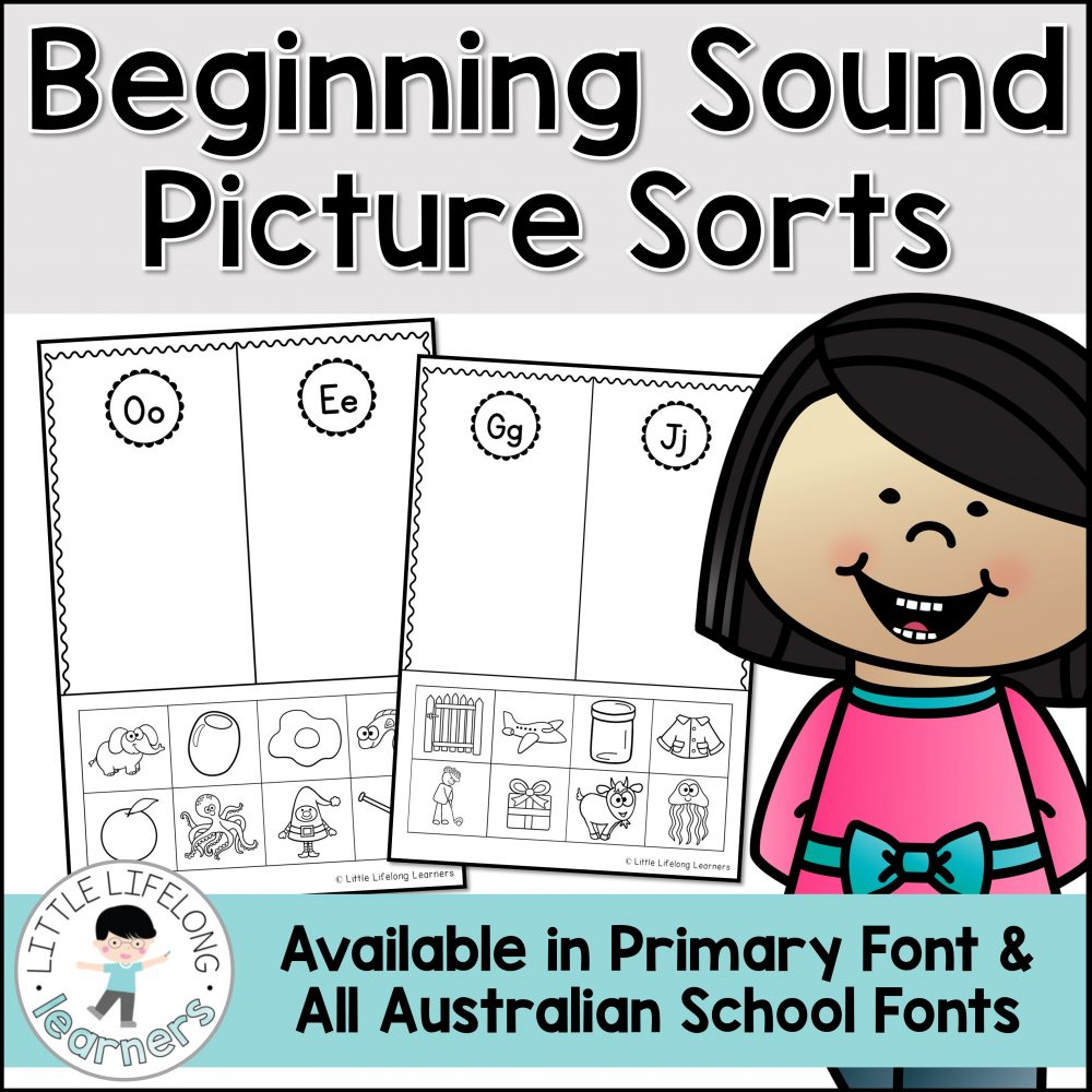 These beginning sound picture sorts are a great way to review letters and sounds! Perfect for your kindergarten kids, your children will love sorting the pictures based on their beginning sound! This fun activity is best for small group work in the early years!
