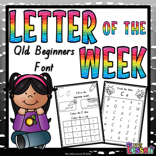 Font Size For Cover Letter: Letter Of The Week Worksheets QLD Beginners Font