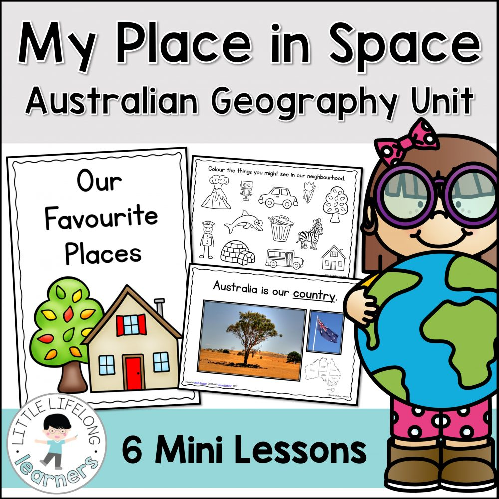 Explore your place in space with this Australian Geography Unit | Street, Suburb, City, State, Country | Australian Curriculum for Prep, Foundation and Kindergarten students |