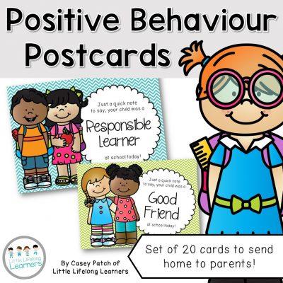 Positive Behaviour Postcards - cover