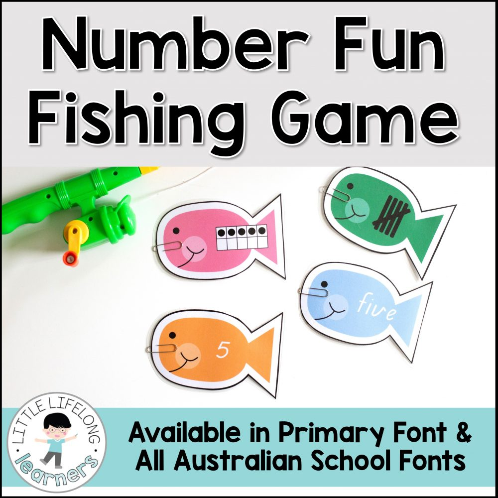 This fun number fishing game is sure to impress your Kindergarten and Preschool kids! They'll love catching their number fish and matching the numeral, number word, tally mark and tens frame! This game is perfect for learning numbers 1-10 and is perfect for your math centers and hands on learning activities for maths lessons! Includes all Australian Fonts – QLD Beginner's, NSW Foundation and VIC Modern Cursive!