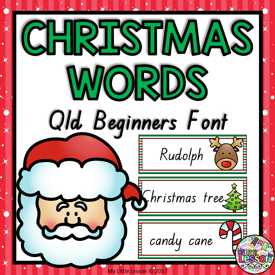 christmas word cards qld beginners font  the alphabet tree
