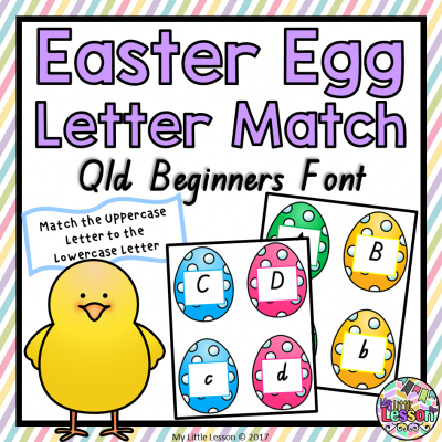 8X8 Cover - Easter Egg Letter Match Qld Beginners Font PNG