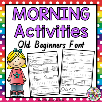 8x8 Morning Activities Book Qld Beginners Font PNG
