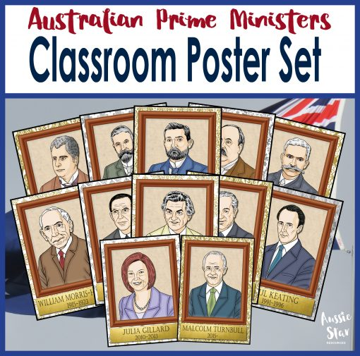 Australian Prime Ministers Poster Set Square Cover TESTER ONLY