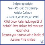 Australian Prime Ministers Poster Set Square Cover TESTER ONLY2