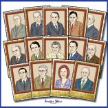 Australian Prime Ministers Poster Set Square Cover TESTER ONLY4