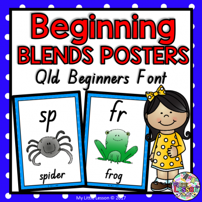 Beginning Blends Posters Qld Font 8x8 Cover PNG