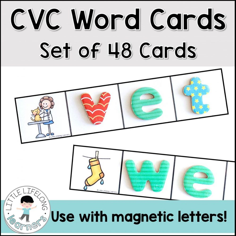 These CVC cards are a wonderful addition to your small groups activities and literacy centers! Perfect for struggling readers, blending sounds, word families and phonics, your kindergarten and preschool kids will love building CVC words with this simple CVC game! Meet the EYLF and Australian Curriculum standards with play-based, hands on learning!