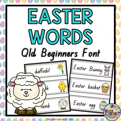 Easter Words Qld Beginners Font 8x8 Cover PNG