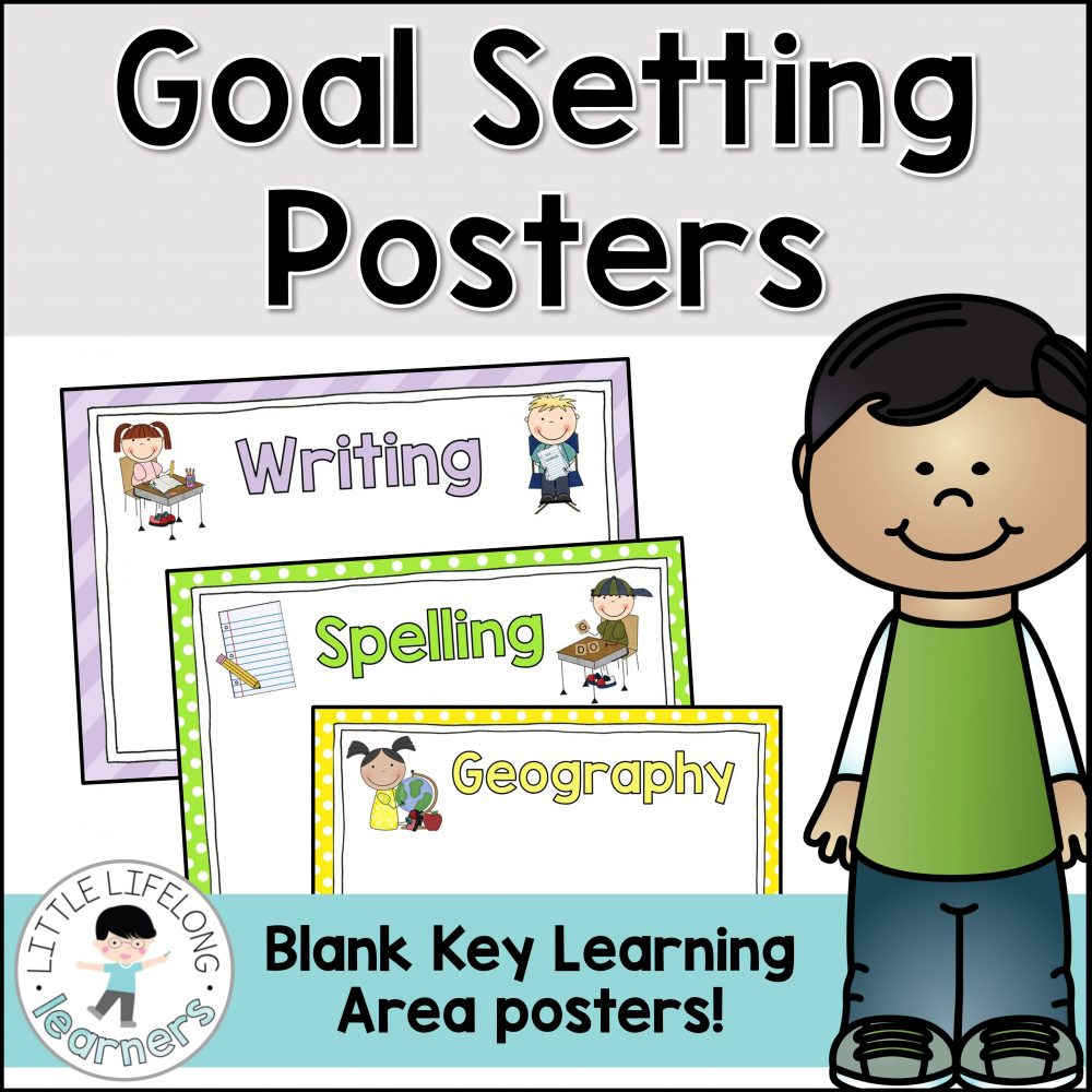 Set daily, weekly or semester goals for each of the key learning areas using these goal setting posters. By modelling how to write goals for your students, they will learn how to set appropriate goals for themselves! Make a goal setting bulletin board or class display using these charts.