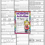 Morning Activities Book Qld Beginners Font PREVIEW PNG