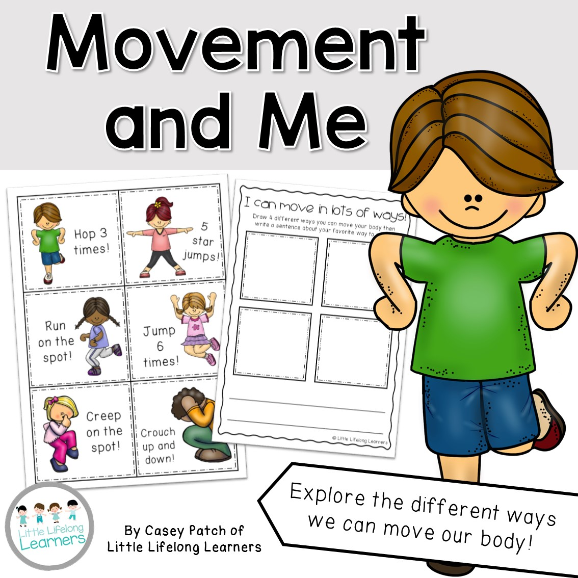 Movement and Me Science Mini Unit | Prep, Foundation and Kindergarten students | Australian Curriculum printables and resources