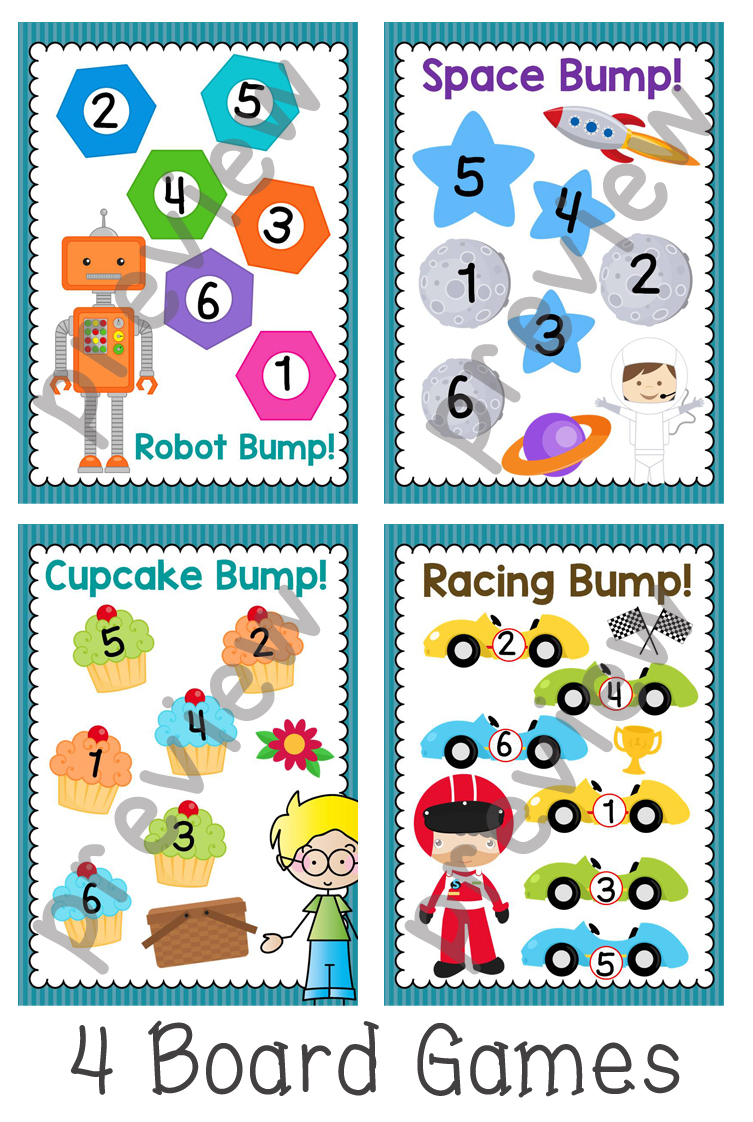 Number Bump Game Boards - Numeracy Centre Games - The Alphabet Tree
