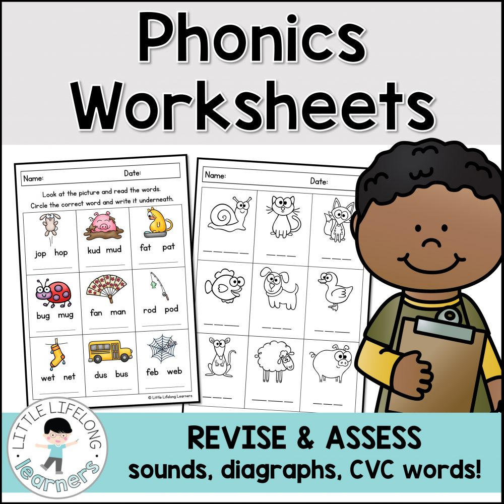 Explore and revise phonics with your preschool and kindergarten kids! These worksheets are perfect for progress monitoring and as an assessment task to check phonological awareness, CVC words, short vowel sound knowledge and more! Includes QLD Beginners, NSW Foundation Font and VIC Modern Cursive.