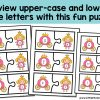 Use these puzzles for a fun upper case and lower case matching game! Perfect for reviewing the letters of the alphabet, letter recognition and upper case and lower case letter names. Add this to youir learning activities and center ideas for your Prep, Foundation, Preschool and Kindergarten kids!