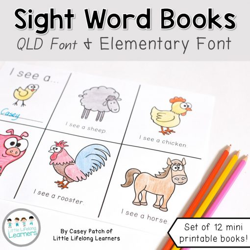 Mini Sight Word Books for early readers | Short, predictive texts for early reading | Prep, Foundation and Kindergarten students | Australian Curriculum printables and resources