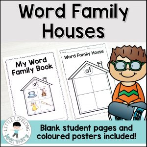 These word family houses are a great way to review word families, rhyming words and CVC words with your kindergarten and preschool kids! They're also great for struggling readers in first grade or for literacy centers! Print off the blank template for your students to turn into word family books or display the colored posters in your classroom! Includes Australian fonts – QLD Beginners, NSW Foundation and VIC Modern Cursive!