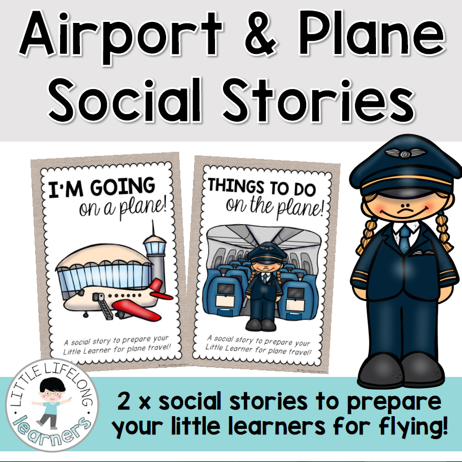 Aiport and Plane Social Stories | Prepare your little learners for plane travel | Explore processes at the airport on on an airplane