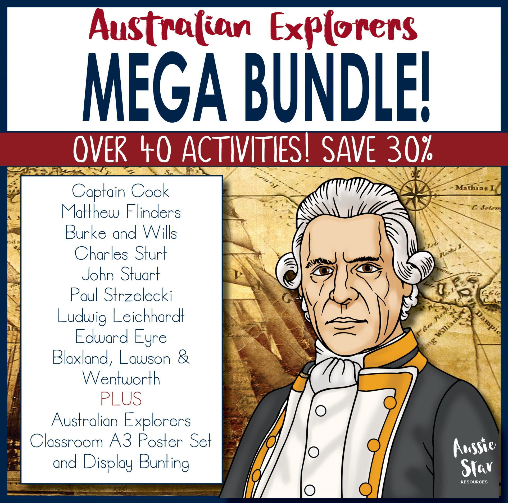 Australian Explorers Mega Bundle -Over 40 Activities, save 30%