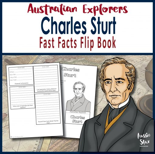 Australian Explorers: Charles Sturt fast facts flip book