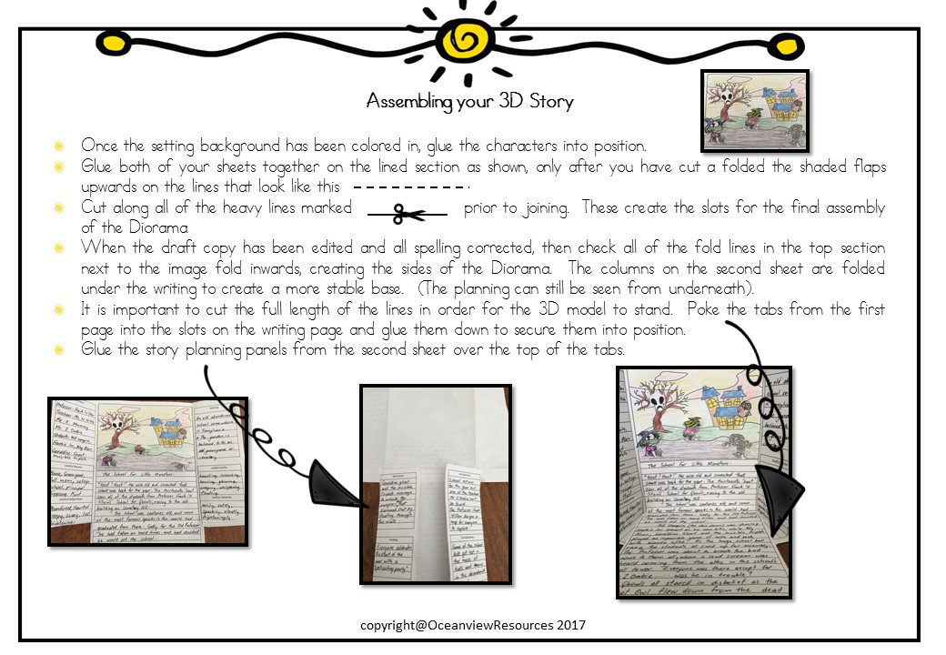 halloween and spooky narrative 3d story template the alphabet tree. Black Bedroom Furniture Sets. Home Design Ideas