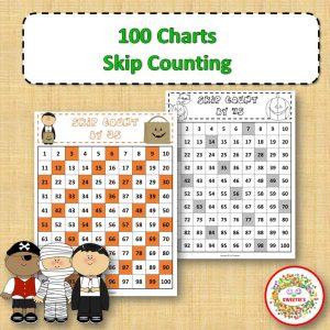 100 Charts Skip Count Halloween