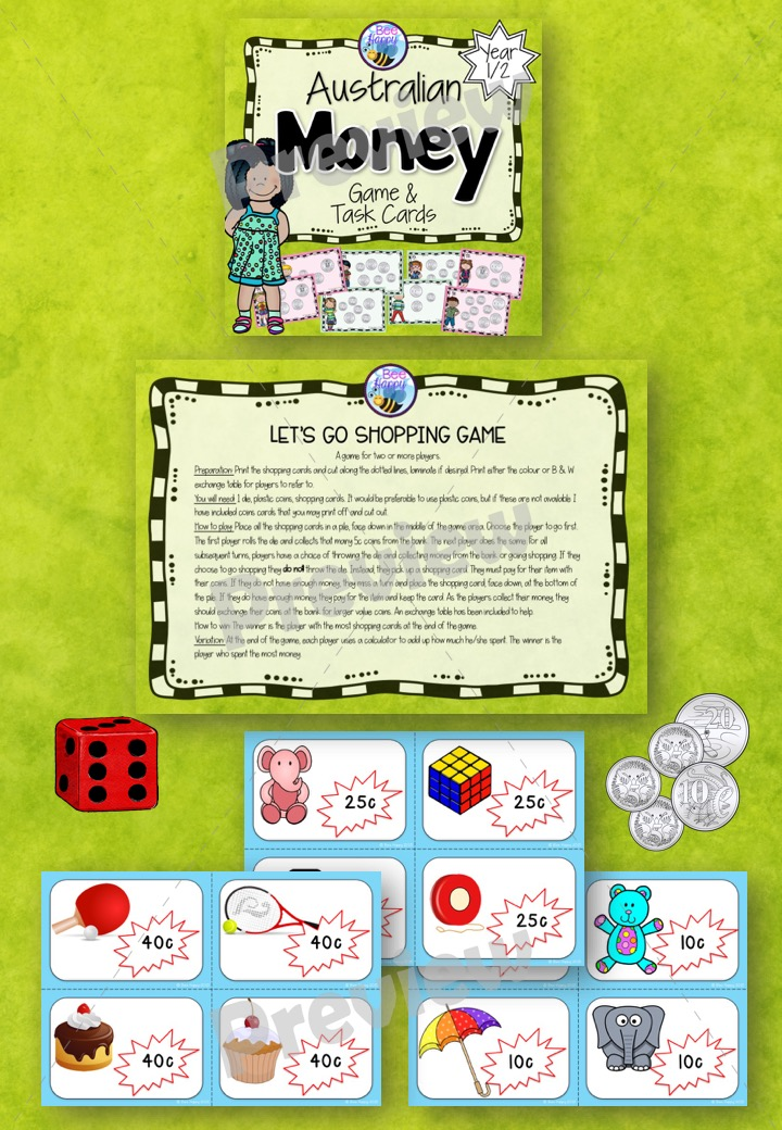 Australian Money Game and Task Cards Year 1/2 - The Alphabet Tree