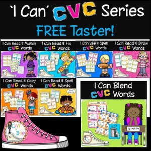 CVC Words, phonics word cards