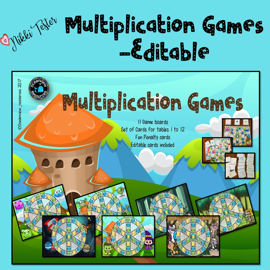 Multiplication Games Editable