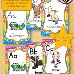 Two choices of fonts, Australian Animals have been used where possible but alternatives have been provided for teachers outside of Australia