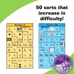 Mental Maths Puzzle Strips -Lower -50 sorts that increase in difficulty