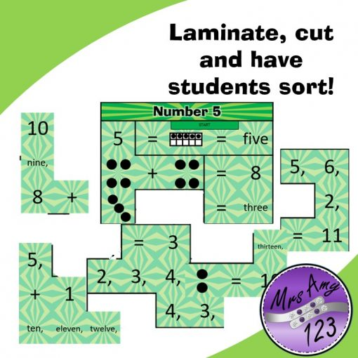 Mental Maths Puzzle Strips -Lower Laminate, cut and have students sort!