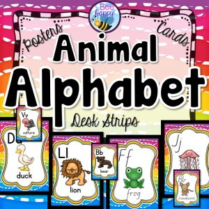 Animal Alphabet Posters Flashcards and Desk Strips Resource