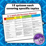 Year 5 Naplan Quizzes -12 quizzes each covering specific topics