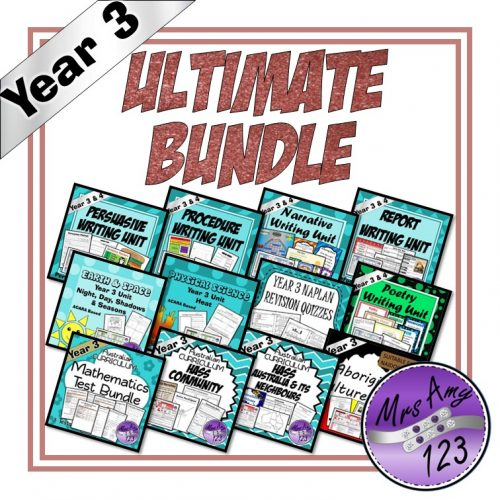 Year 3 Ultimate Bundle ACARA Mrs Amy123