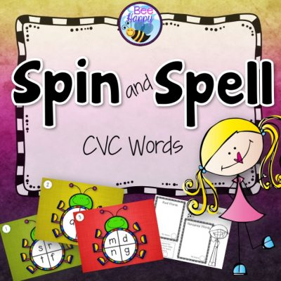 Spin and Spell CVC words