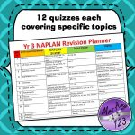 Year 3 Naplan Quizzes -12 quizzes each covering specific topics