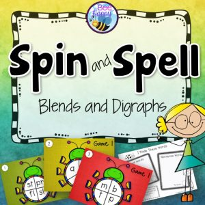 Spin and Spell games for blends and digraphs
